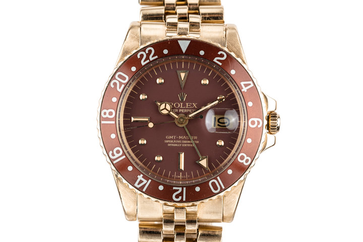 1973 Rolex 18K YG GMT-Master 1675 with Brown Nipple Dial photo