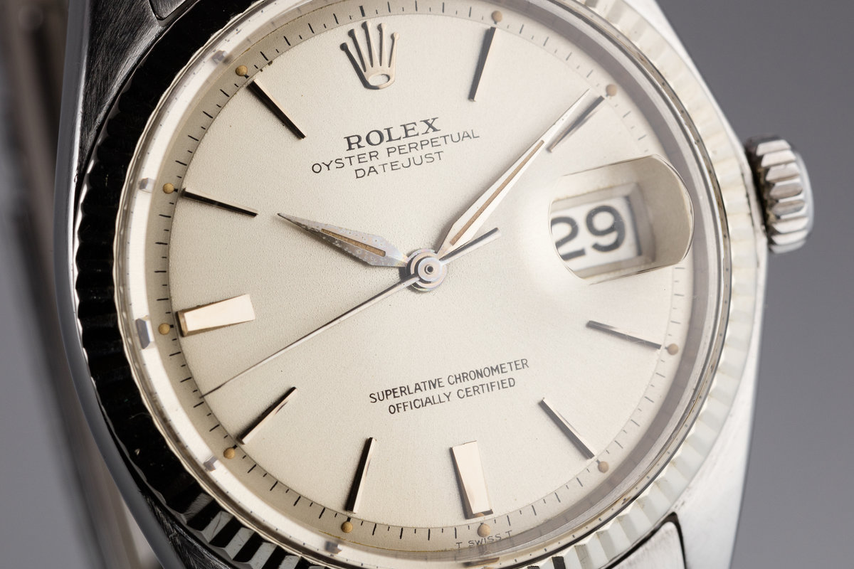 HQ Milton - 1964 Vintage Rolex DateJust 1601 Silver Doorstop Dial