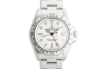 1996 Rolex Explorer II 16570 White Dial photo