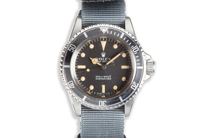 1969 Vintage Rolex Submariner 5513 Meters First Dial photo