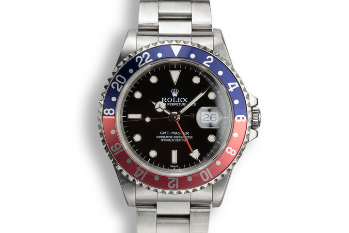 "1999 Rolex GMT-Master 16700 ""Pepsi"" with SWISS Only Dial photo"