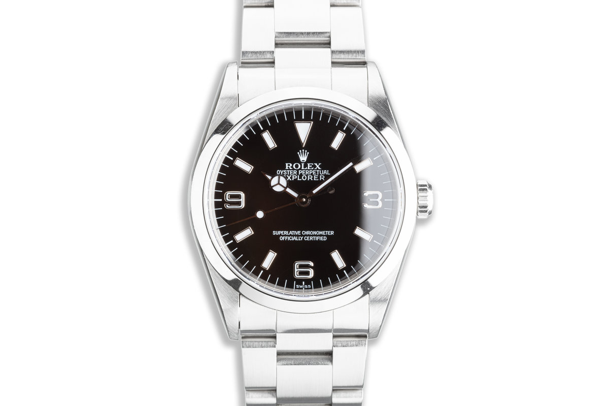 """1999 Rolex Explorer 14270 """"Swiss Only"""" Dial Box & Papers photo, #0"""