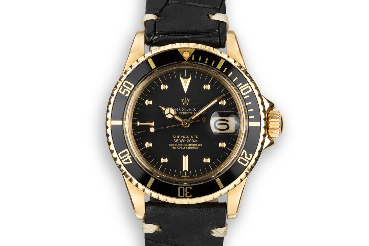 1978 Rolex 18K YG Submariner 1680 with Matte Black Nipple Dial photo, #0