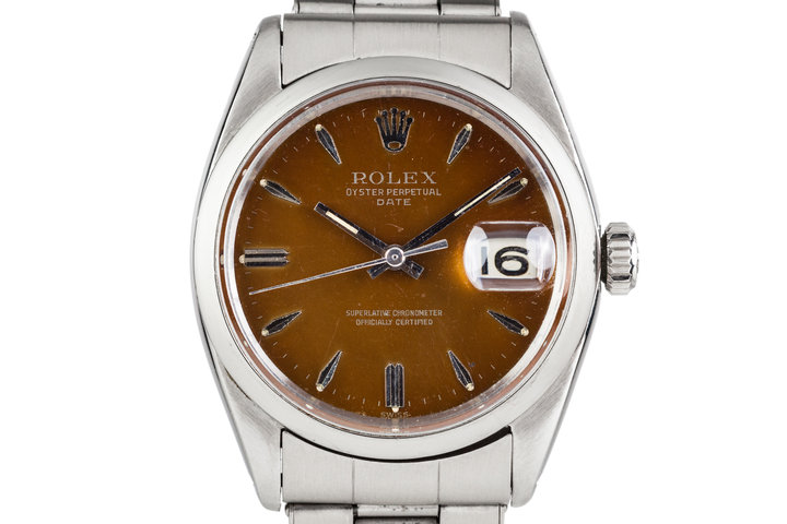 1961 Rolex Date 1500 with Tropical Dial photo