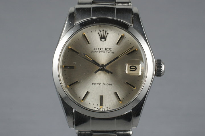 1966 Rolex Midsized OysterDate 6466 Silver Dial photo