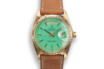 1974 Rolex 18K YG Day-Date 1803 with Turquoise Stella Dial photo