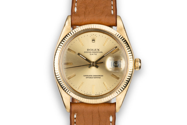 1978 Rolex 18K YG Date with Champagne Dial photo