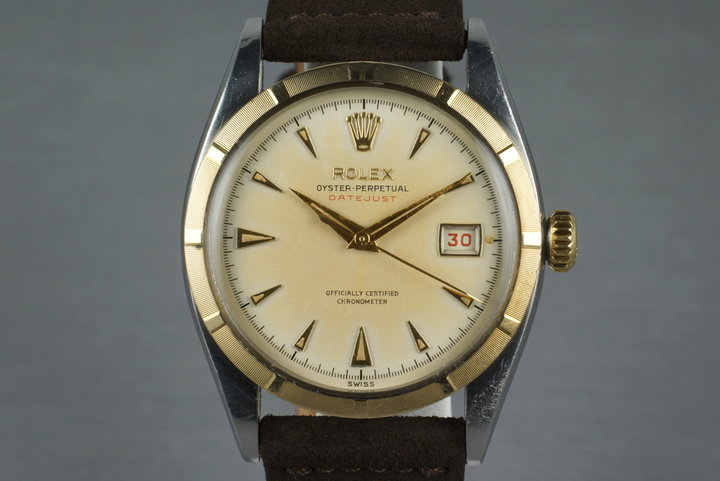 1953 Rolex Two Tone Datejust 6305 with Red Datejust Dial photo