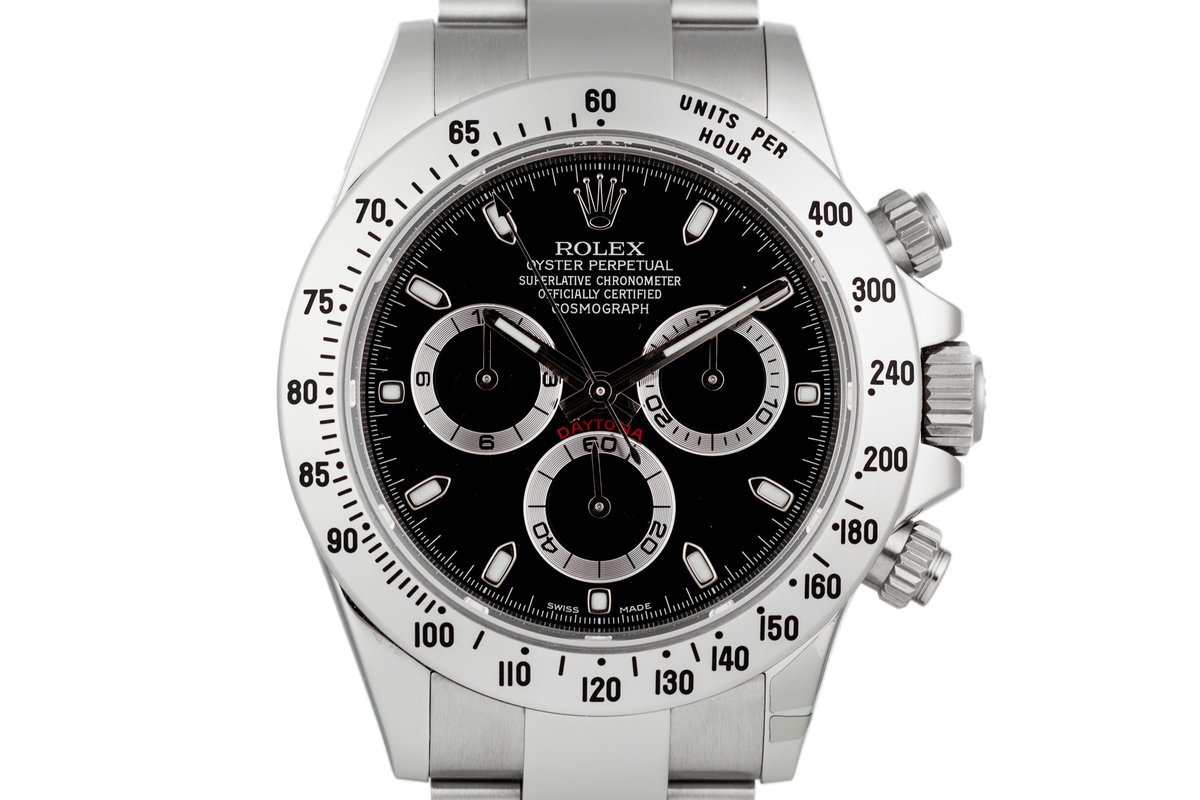 2015 Rolex Daytona 116520 Black Dial with Box and Papers photo, #0