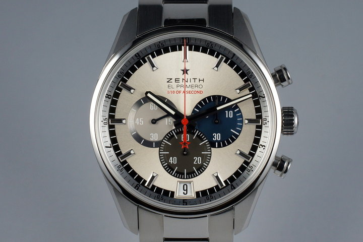 2015 Zenith El Primero 03.2041.4052 Striking Tenths with Box and Papers photo