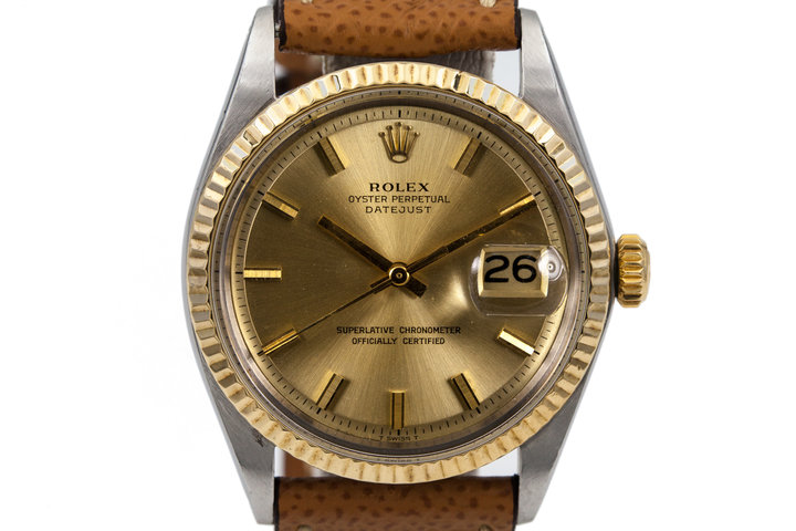 1971 Rolex SS/YG DateJust 1601 Champagne Dial photo