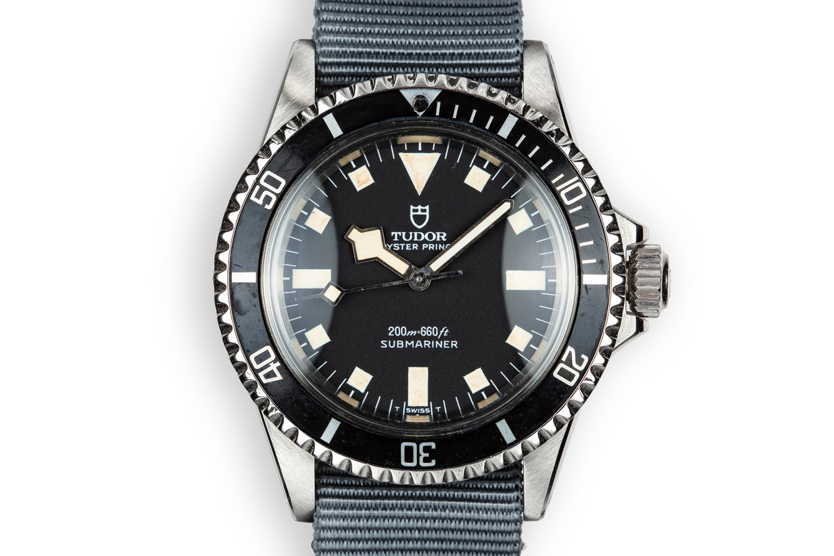 1972 Tudor Snowflake Submariner 7016/0 Black Dial photo, #0