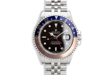 "1989 Rolex GMT-Master II 16710 with ""Pepsi"" insert with Box and Papers photo"