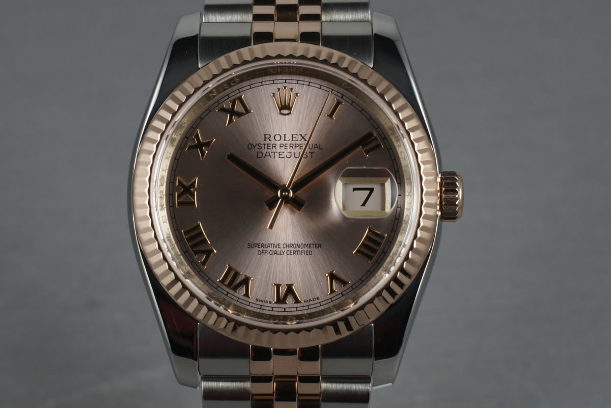 2011 Rolex Rose Gold & Stainless Steel Datejust 116231 with papers photo, #0