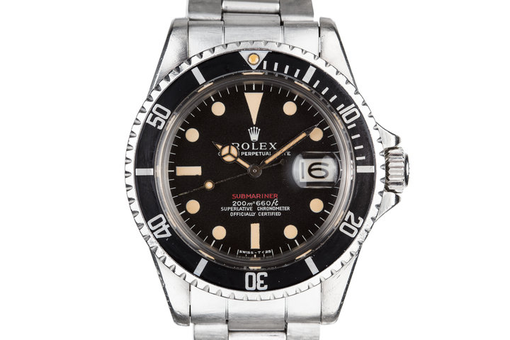 1969 Rolex Red Submariner 1680 with MK I Long F Meters First Dial photo