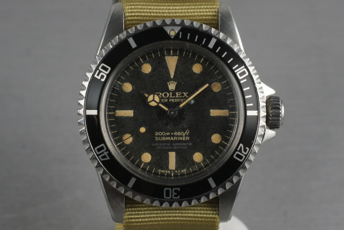 1963 Rolex Submariner 5512 PCG with 4 line gilt non chapter ring dial photo, #0