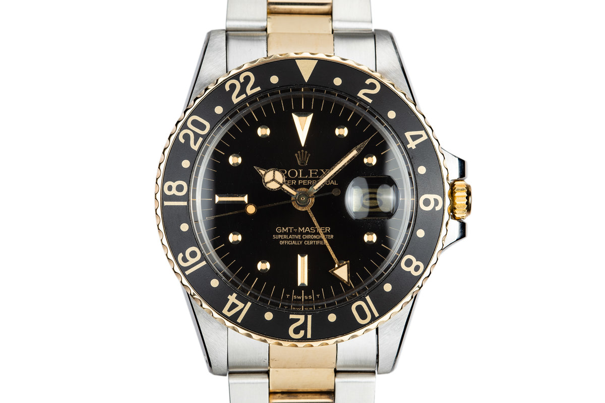 1977 Rolex Two-Tone GMT-Master 1675 with Black Nipple Dial photo, #0