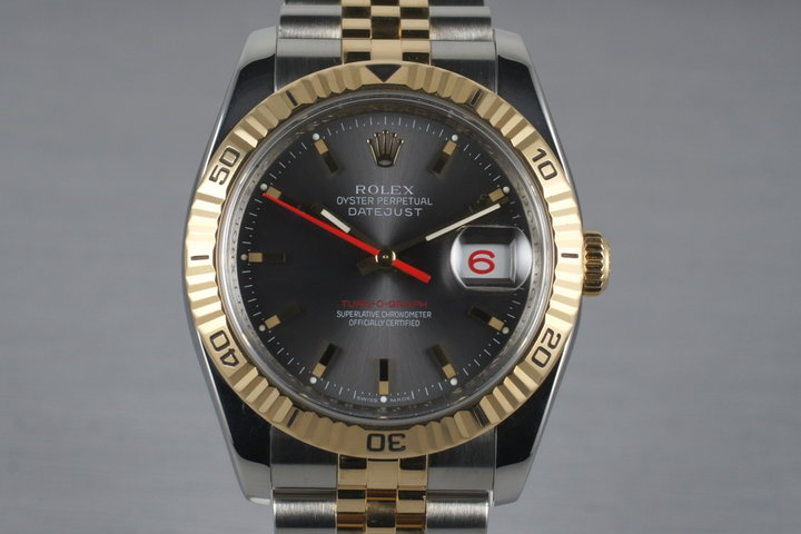 2005 Rolex Two Tone DateJust 116263 Turn-O-Graph with Box and Papers photo
