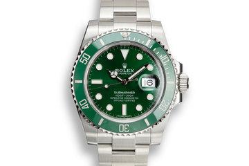 "2018 Rolex Green Submariner 116610LV ""Hulk"" with Box and Papers photo"