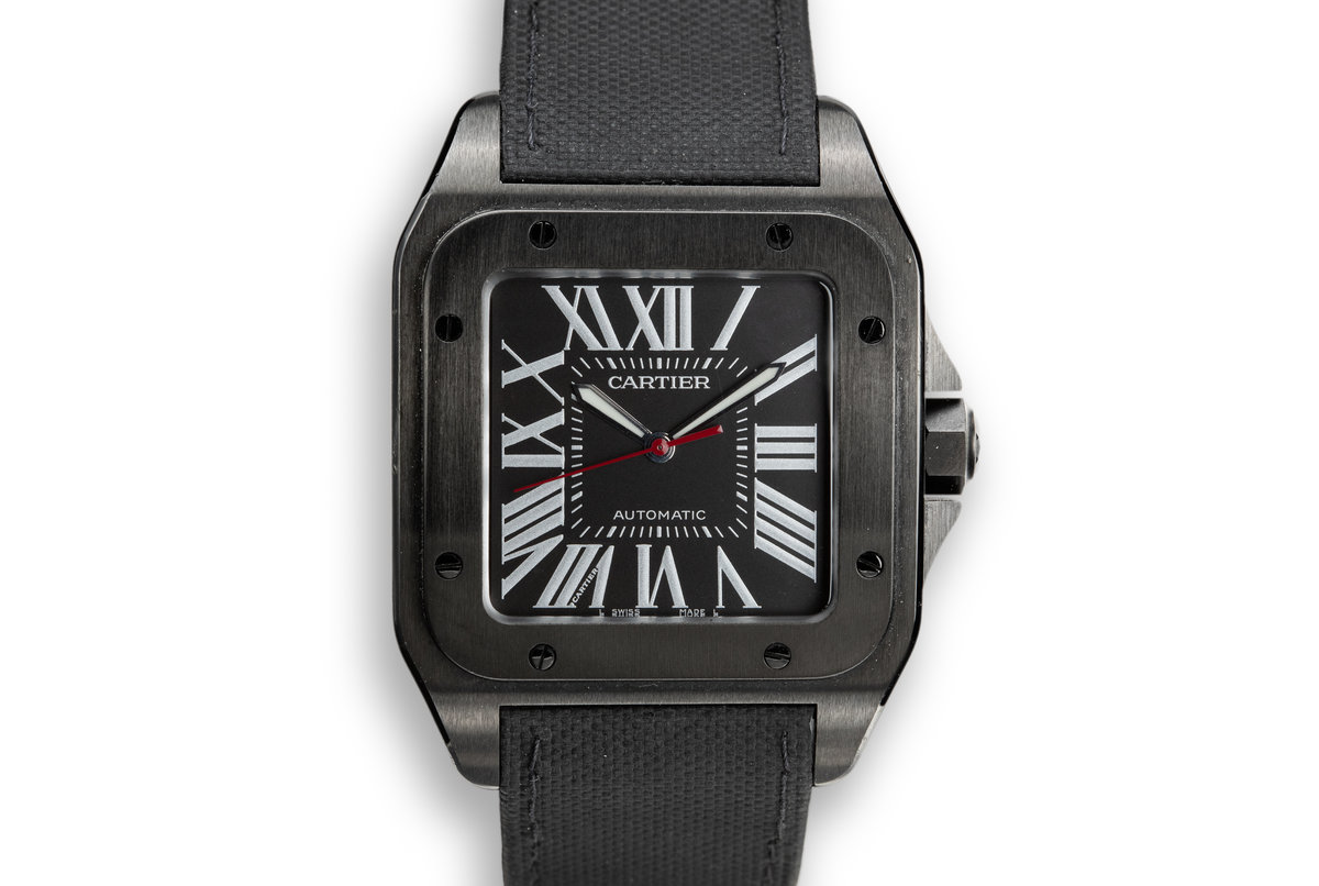 2016 Cartier Santos 100 Carbon WSSA0006 with Papers photo, #0