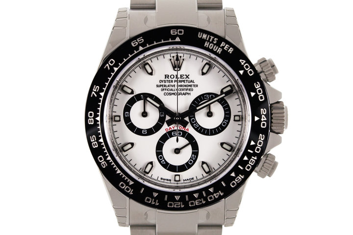 2017 Rolex Ceramic Daytona 116500LN White Dial with Box and Papers MINT photo