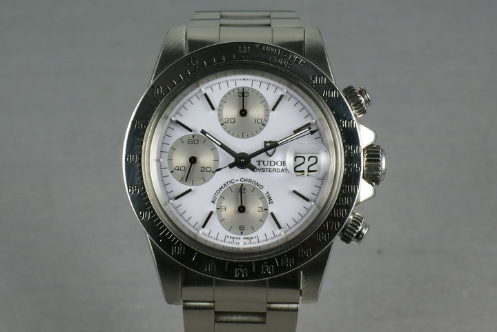 Tudor Chronograph Big Block 79180 with Rolex Service Papers and Porcelain dial photo