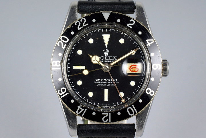 1957 Rolex GMT 6542 Matte Chapter Ring Service Dial photo
