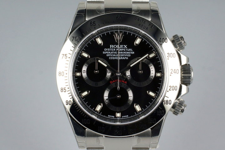 2015 Rolex Daytona 116520 Black Dial with Box and Papers MINT photo