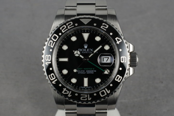 2009 Rolex Ceramic GMT 116710 Box and Papers V serial photo