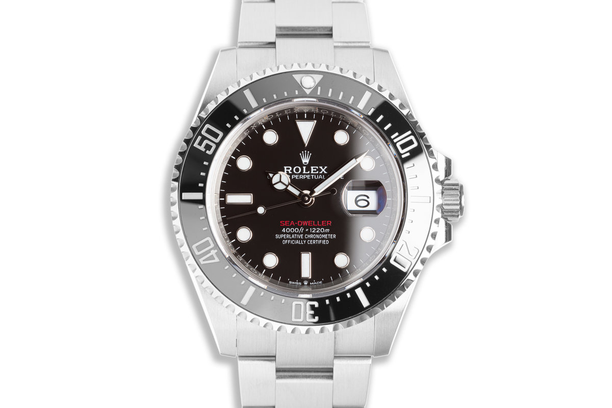 2020 Rolex 43mm Red Sea-Dweller 126600 with Box & Card photo, #0