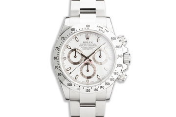 2014 Rolex Daytona 116520 White APH Dial with Box and Card photo