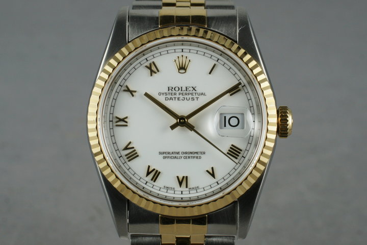 1995 Rolex 18K/SS DateJust 16233 with Papers photo