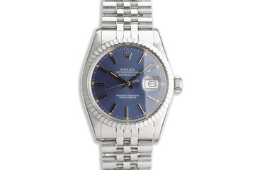 1984 Vintage Rolex DateJust 16030 with Blue Dial with Service Papers photo