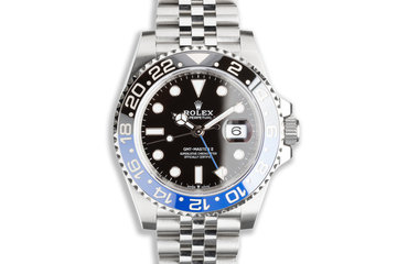 "2020 Rolex GMT-Master II 126710BLNR ""Batman"" Jubilee with Box & Card photo"