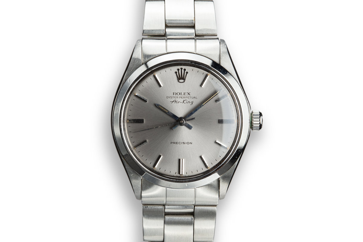 """1970 Rolex Air-King 5500 with Grey """"Ghost Dial"""" photo, #0"""