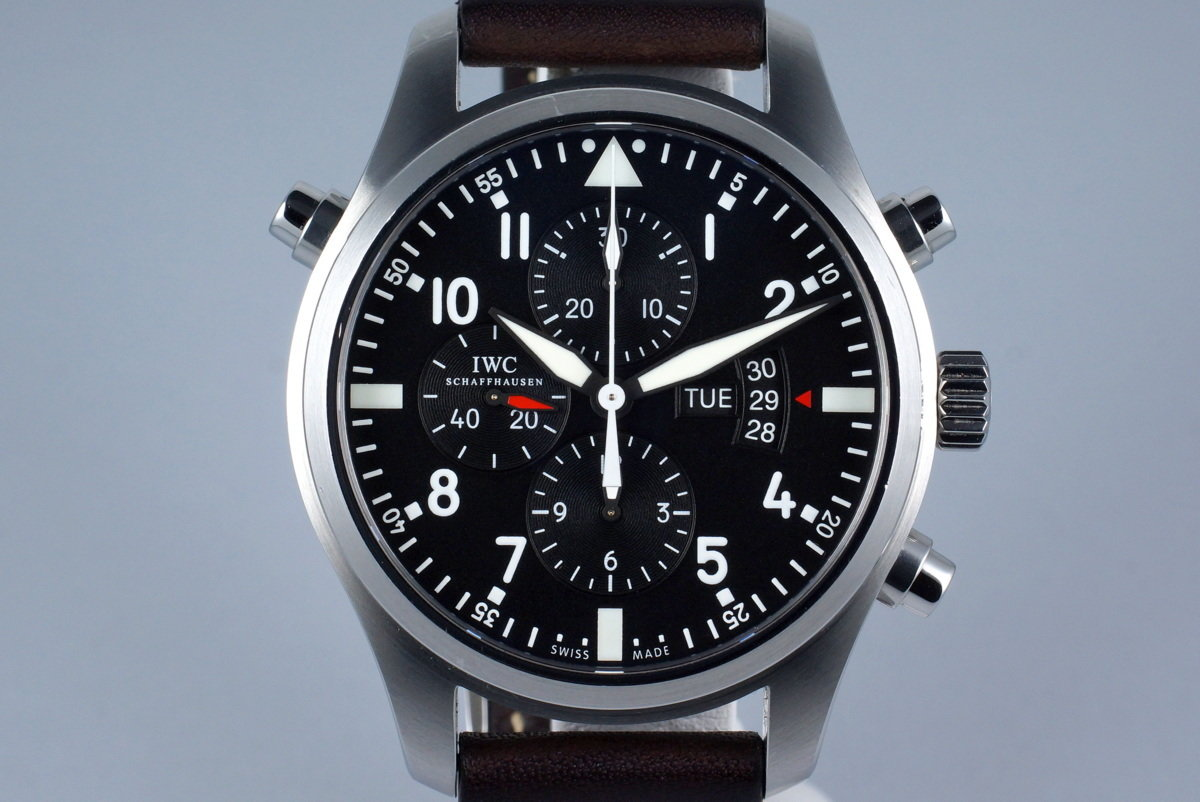 2015 IWC Pilot's Watch Double Chronograph IW3778 with Box and Papers photo, #0