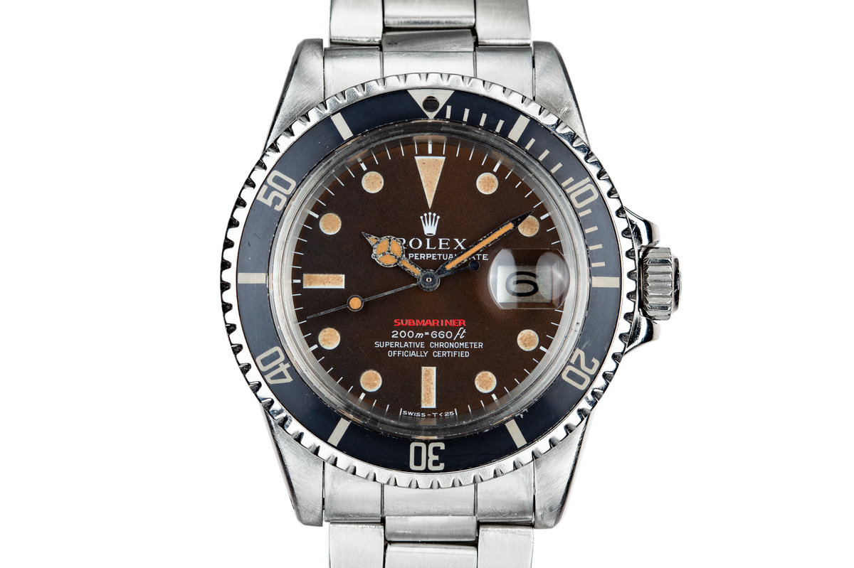 1969 Rolex Red Submariner 1680 with Red Tropical Dial photo, #0