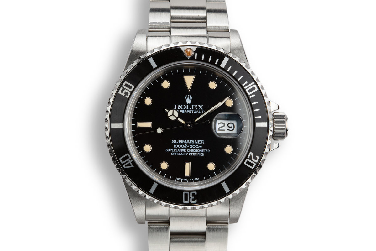 1985 Rolex Submariner 16800 with Box and Service Estimate photo, #0