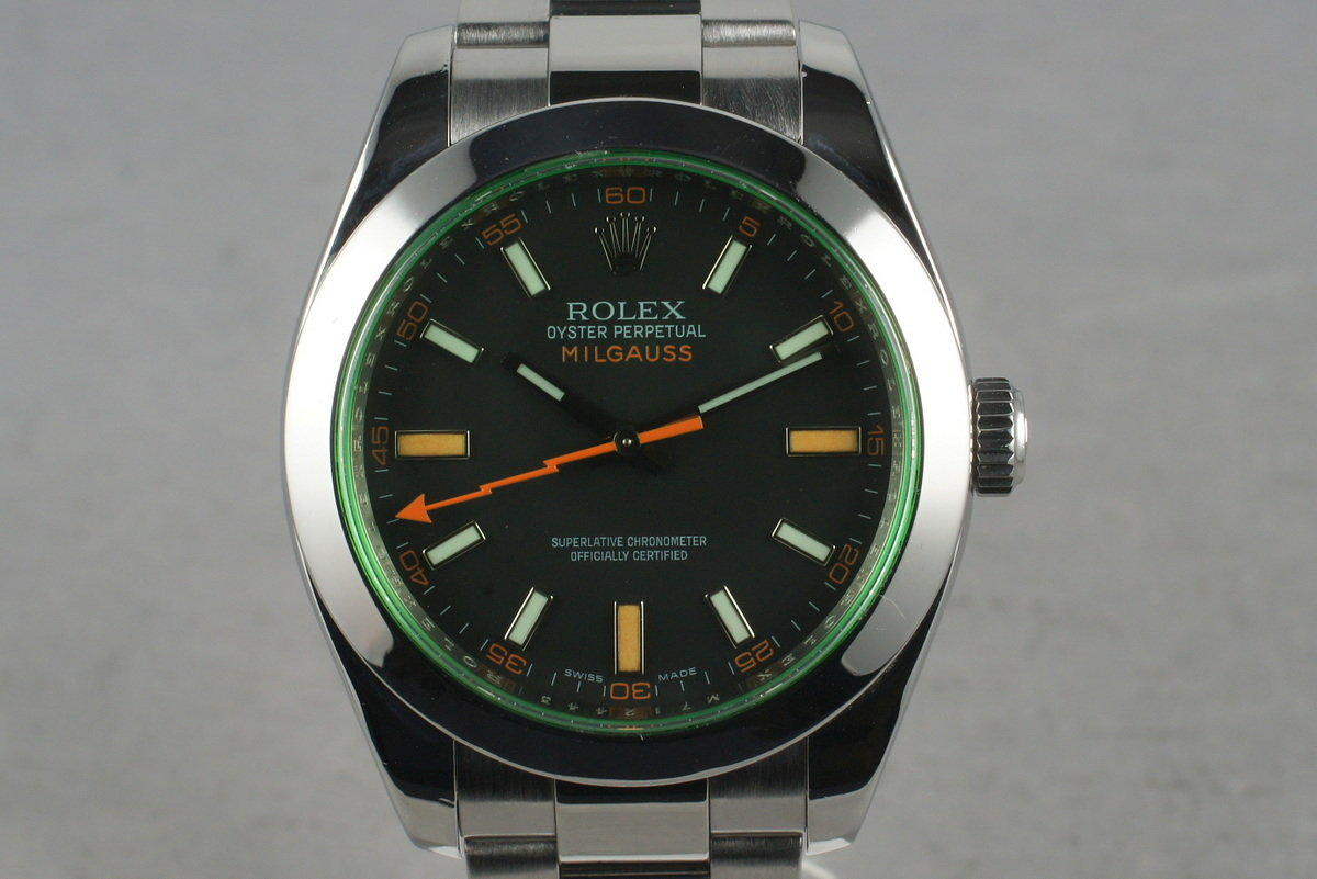 2007 Rolex Milgauss Green 116400GV with Box and Papers photo, #0