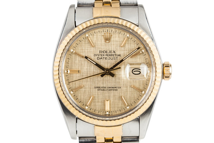 1984 Rolex DateJust 16013 with Gold Linen Dial photo