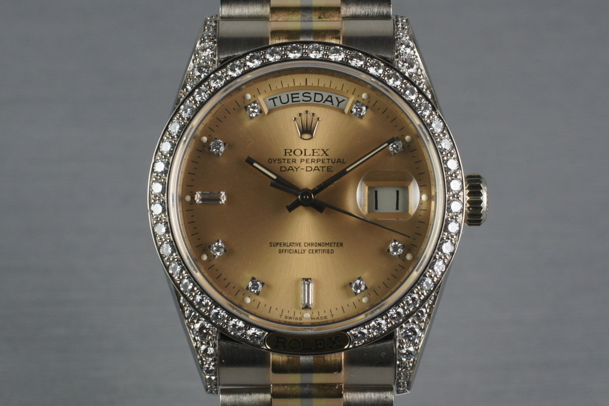 1986 President 18139 TRIDOR with Factory Diamond Lugs, Dial, and Bezel photo, #0