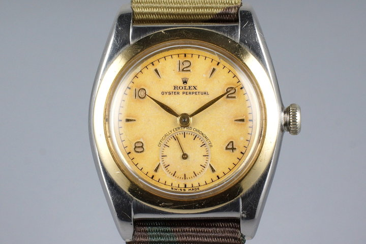 1947 Rolex Two Tone Bubble Back 3132 Non-Luminous photo