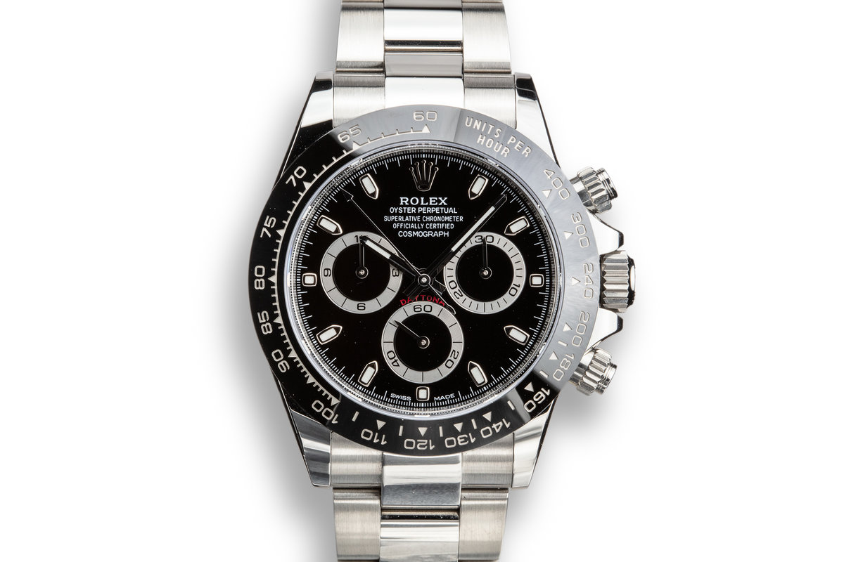 2019 Rolex Daytona 116500LN Black Dial with Box and Papers photo, #0