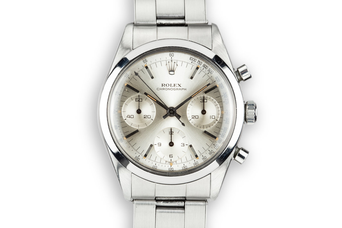 1965 Rolex Pre-Daytona 6238 Silver Dial with Service Papers photo, #0