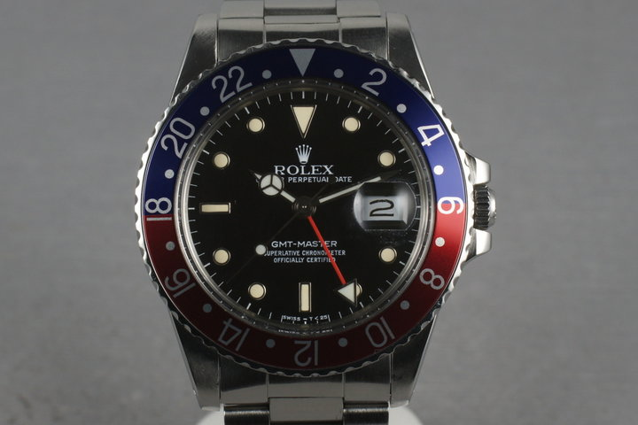 Rolex GMT 16750 with Box and papers WG surround Dial photo