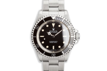 1991Unpolished Rolex Submariner 14060 photo