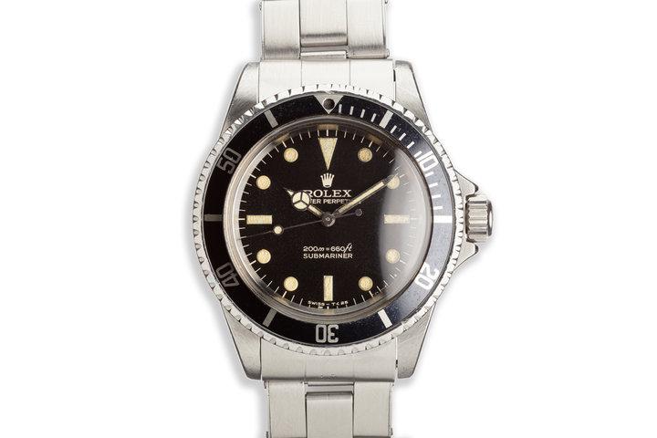 "1966 Vintage Rolex Submariner 5513 ""Bart Simpson"" Gilt Dial photo"