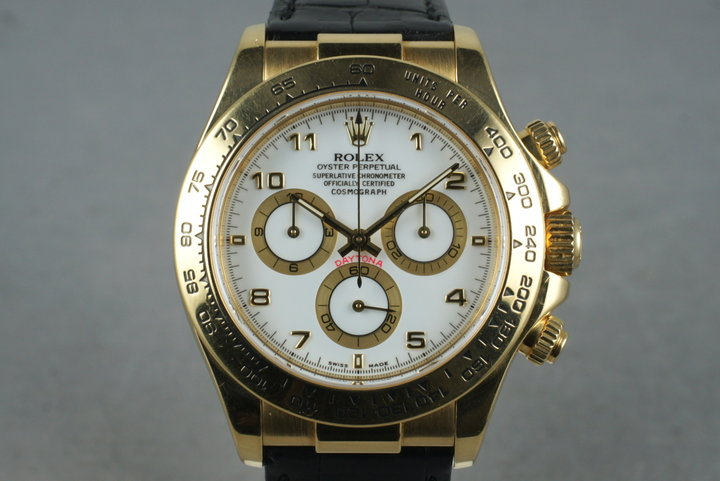 2002 Rolex 18K YG Daytona 116518 with Box  Papers photo