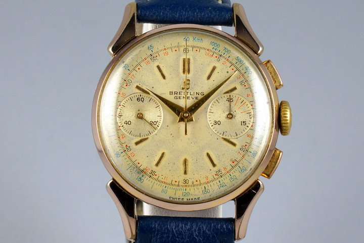 1950's Gold Shell Breitling Chronograph 1193 photo