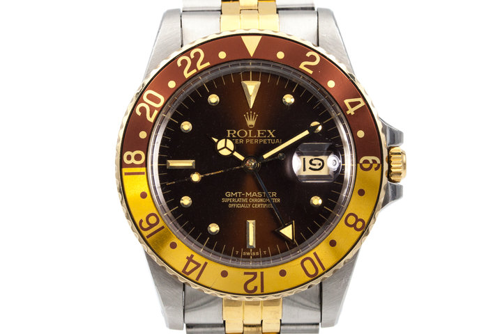 1981 Rolex Two Tone GMT 16753 Root Beer Dial photo